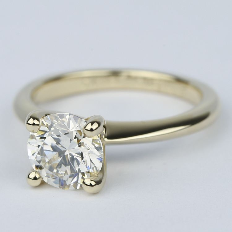 Knife Edge Solitaire Diamond Engagement Ring (1.64 ct.) angle 2