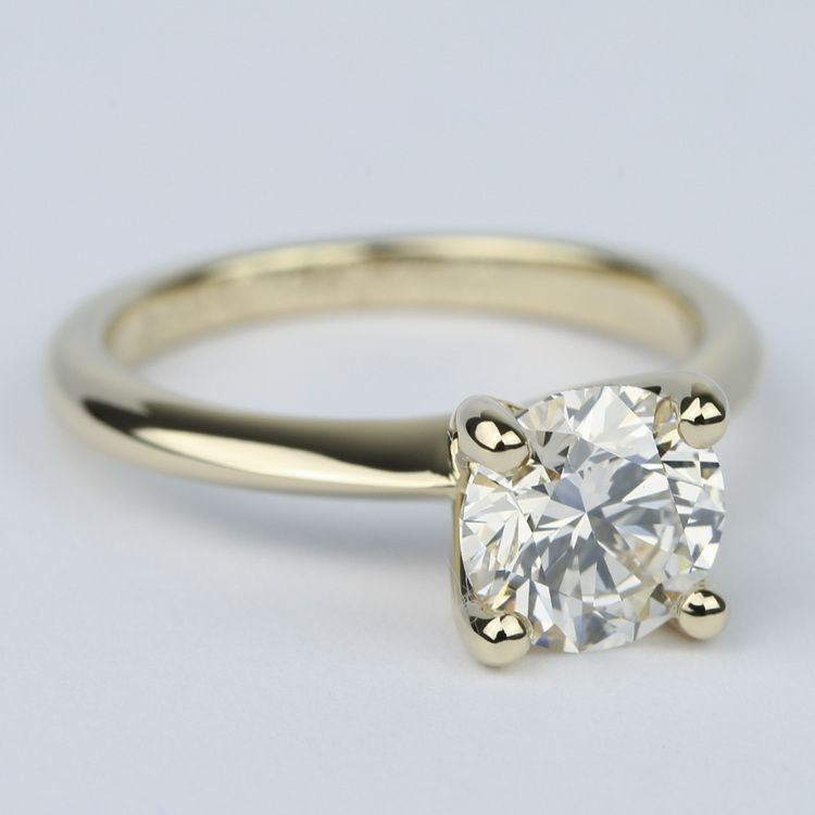 Knife Edge Solitaire Diamond Engagement Ring (1.64 ct.) angle 3