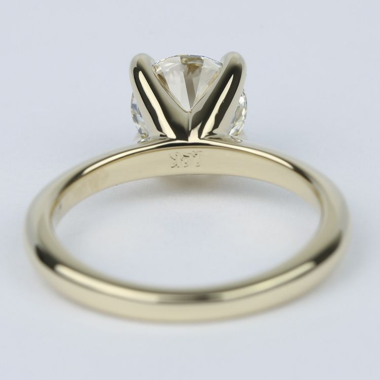 Knife Edge Solitaire Diamond Engagement Ring (1.64 ct.) angle 4