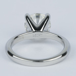 Round Diamond Engagement Ring with Knife-Edge Band (2 Carat) - small angle 4