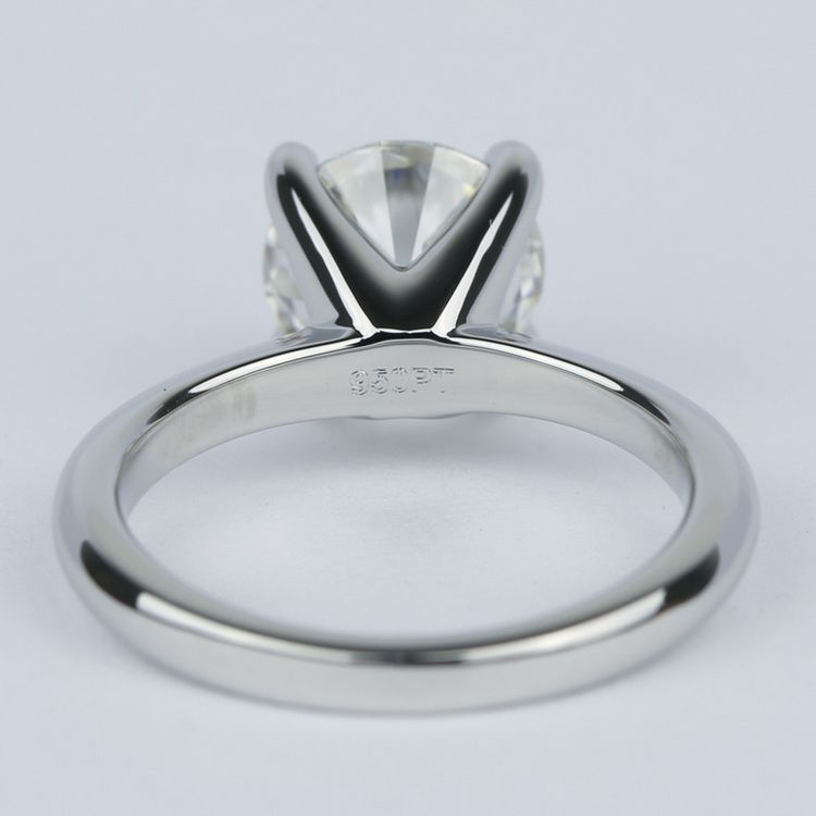 Round Diamond Engagement Ring with Knife-Edge Band (2 Carat) angle 4