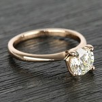 Knife Edge Round Diamond Solitaire Ring in Rose Gold (1.50 Carat) - small angle 3