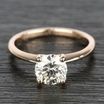 Knife Edge Round Diamond Solitaire Ring in Rose Gold (1.50 Carat) - small