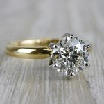 Luxurious Round Cut Diamond Solitaire Engagement Ring - small angle 3
