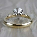 Luxurious Round Cut Diamond Solitaire Engagement Ring - small angle 4