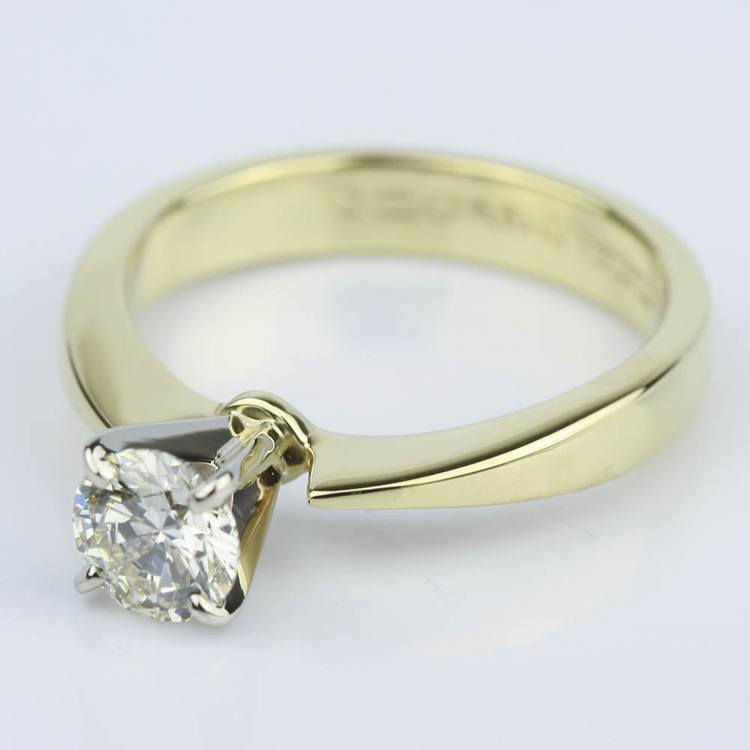 M Color Diamond Solitaire Engagement Ring (0.70 ct.) angle 2