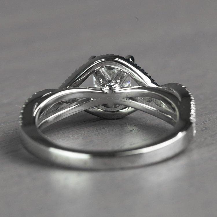Magnificent Princess Cut Cross Split Shank Diamond Engagement Ring angle 4