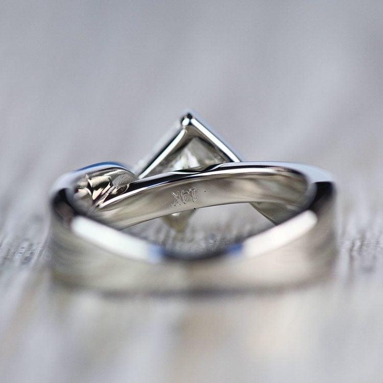 Majestic Princess Bezel Diamond Bridge Engagement Ring angle 4