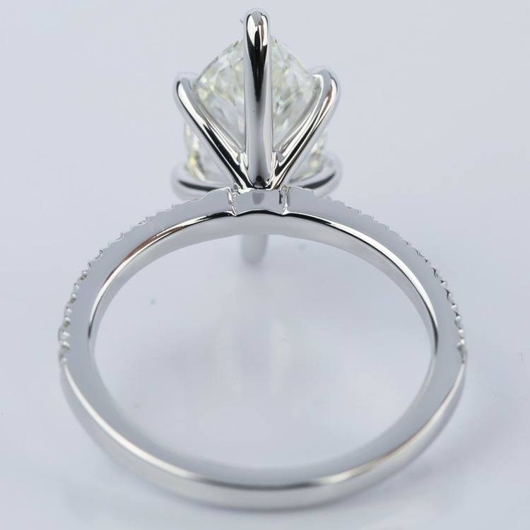 Marquise Cut Diamond with Pave Engagement Ring (2.55 ct.) angle 4