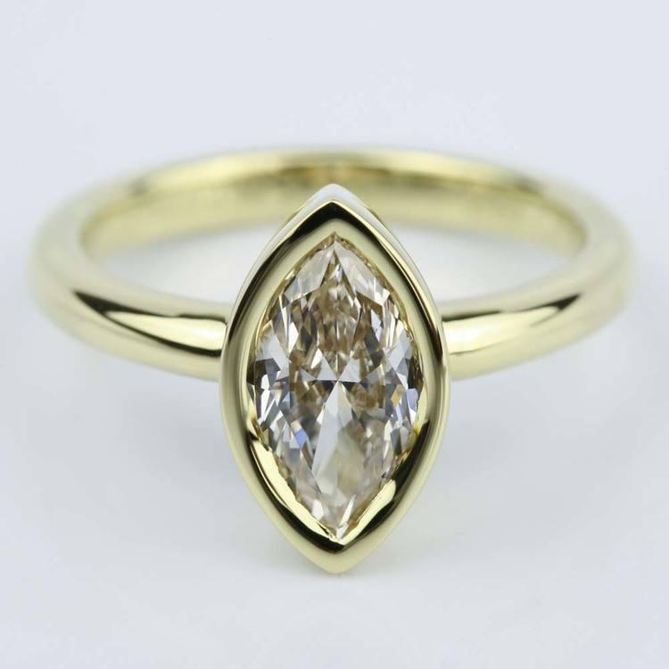Marquise Diamond Bezel Engagement Ring (1 Carat)