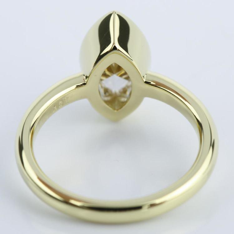 Marquise Diamond Bezel Engagement Ring (1 Carat) angle 4