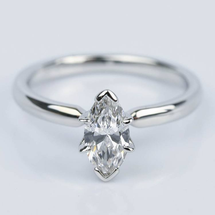 Marquise Solitaire Diamond Engagement Ring (0.44 ct.)