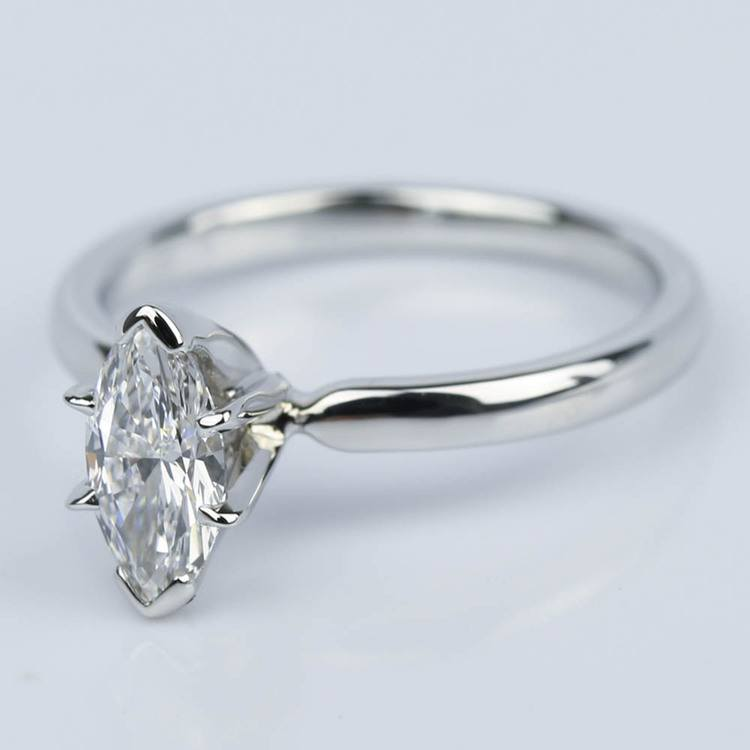 Marquise Solitaire Diamond Engagement Ring (0.44 ct.) angle 2