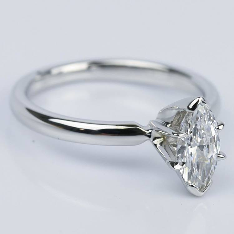Marquise Solitaire Diamond Engagement Ring (0.44 ct.) angle 3