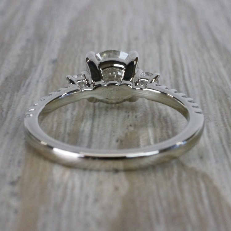 Marvelous Moissanite Three Stone Engagement Ring angle 4
