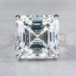 Luxury Custom 16 Carat Asscher Cut Diamond Ring - small