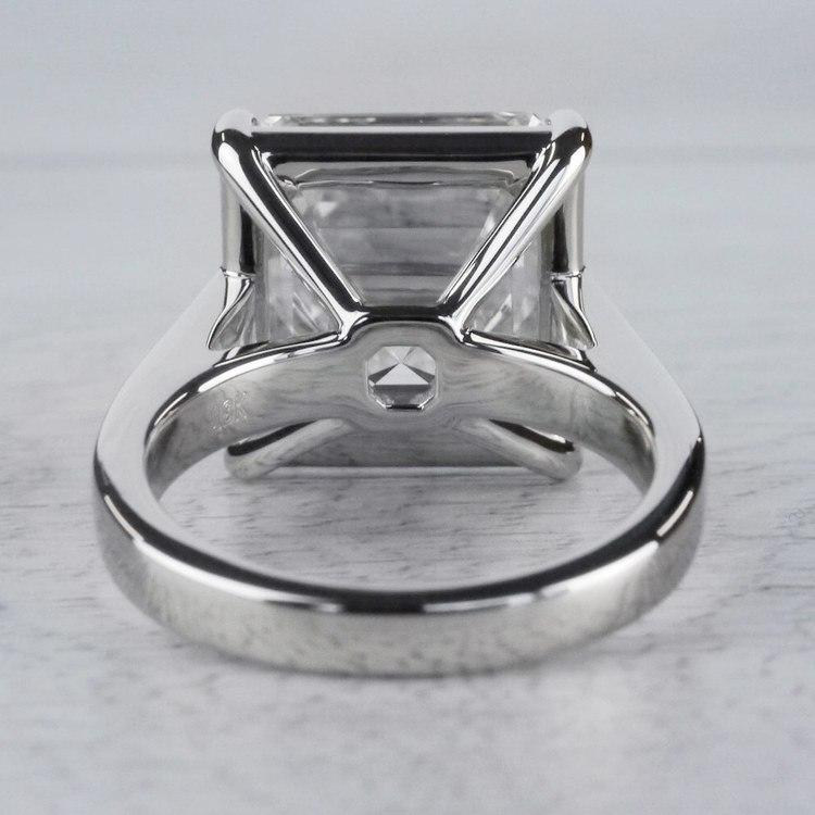 Luxury Custom 16 Carat Asscher Cut Diamond Ring angle 4