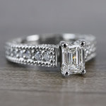 Mesmerizing Emerald Cut Diamond Vintage Engagement Ring - small angle 3
