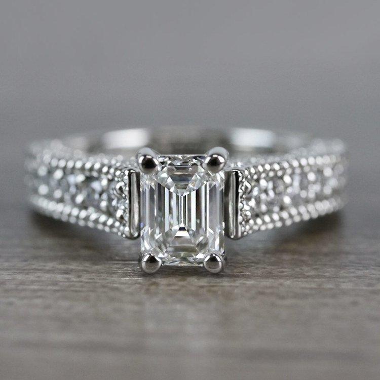 Mesmerizing Emerald Cut Diamond Vintage Engagement Ring