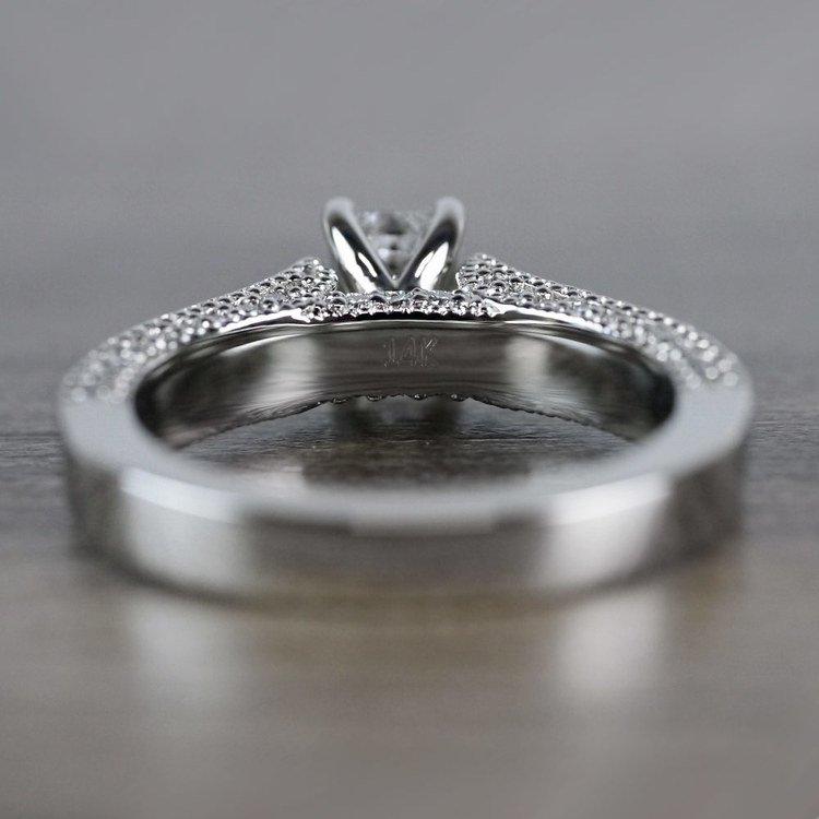 Mesmerizing Emerald Cut Diamond Vintage Engagement Ring angle 4