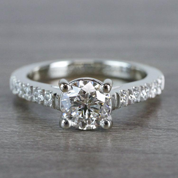 Mesmerizing Trellis Round Diamond Ring