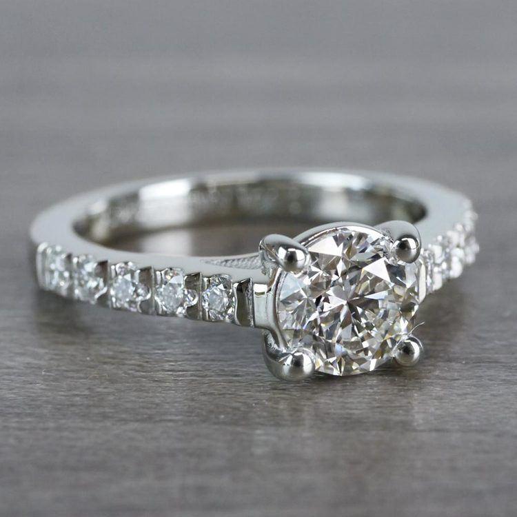 Mesmerizing Trellis Round Diamond Ring angle 3