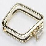 Modern Custom Split Shank 1.60 Carat Princess Diamond Engagement Ring - small angle 3