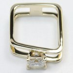 Modern Custom Split Shank 1.60 Carat Princess Diamond Engagement Ring - small angle 4