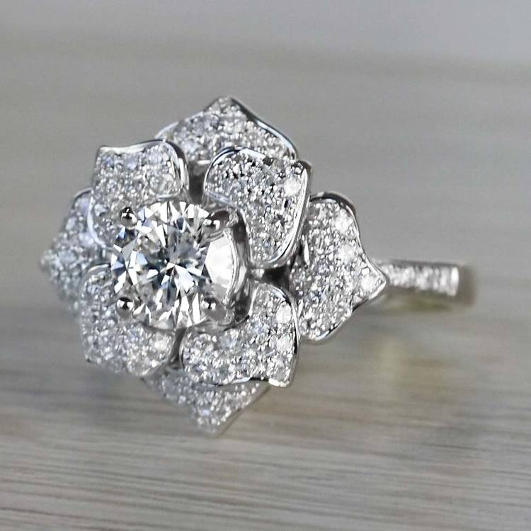 Moonlit Flower Engagement Ring by Parade angle 2