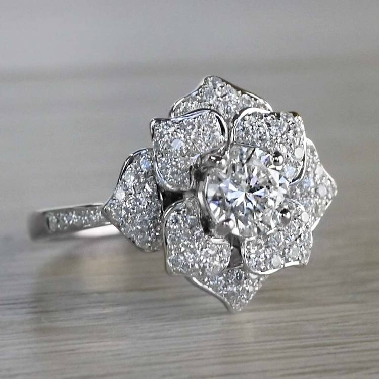 Moonlit Flower Engagement Ring by Parade angle 3