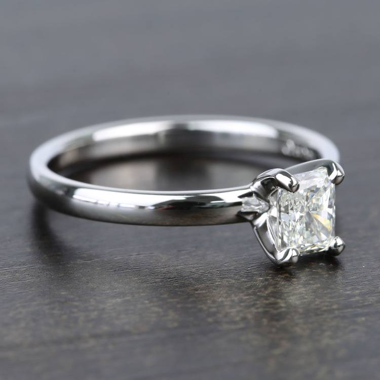 Near-Flawless 0.80 Carat Radiant Solitaire Diamond Engagement Ring angle 3