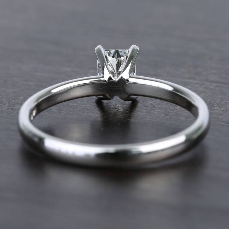 Near-Flawless 0.80 Carat Radiant Solitaire Diamond Engagement Ring angle 4