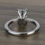 Near Flawless 1.51 Carat Emerald Petite Pave Diamond Engagement Ring - small angle 4