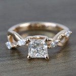 Near Flawless 1 Carat Princess Florida Ivy Diamond Engagement Ring - small