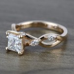 Near Flawless 1 Carat Princess Florida Ivy Diamond Engagement Ring - small angle 2