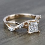 Near Flawless 1 Carat Princess Florida Ivy Diamond Engagement Ring - small angle 3