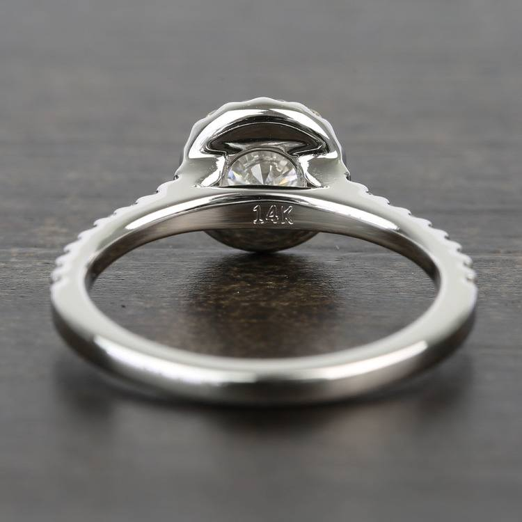 Near-Flawless Round Halo Diamond Engagement Ring (0.56 Carat) angle 4