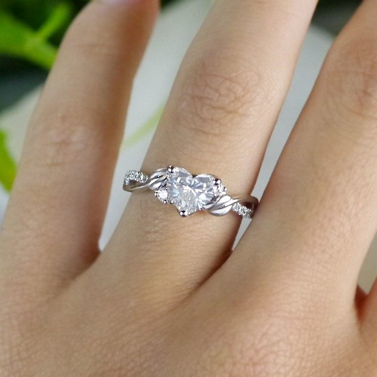 New Leaves 1 Carat Diamond Ring by Parade angle 5