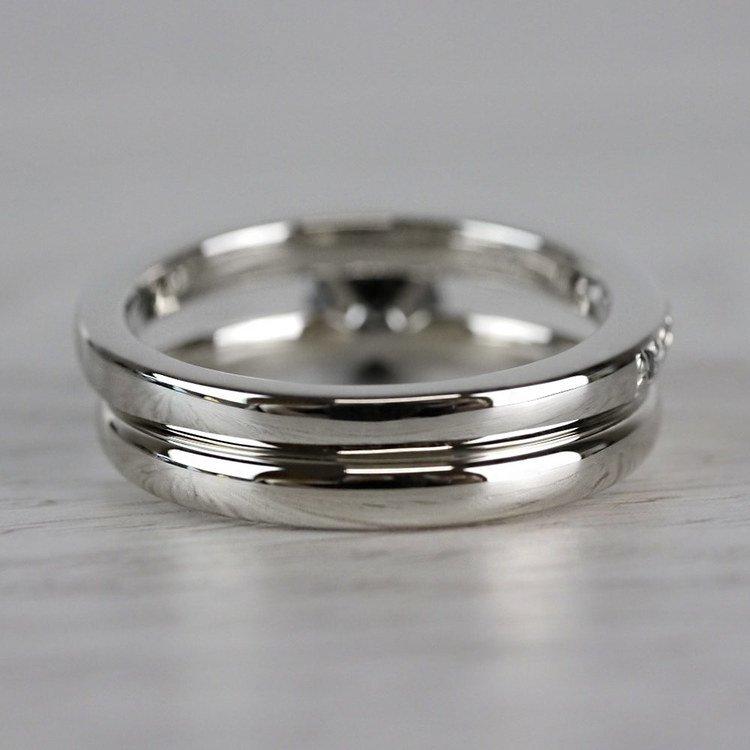 1 Carat Black Diamond Ring & Matching Black Diamond Pave Wedding Ring Set angle 4