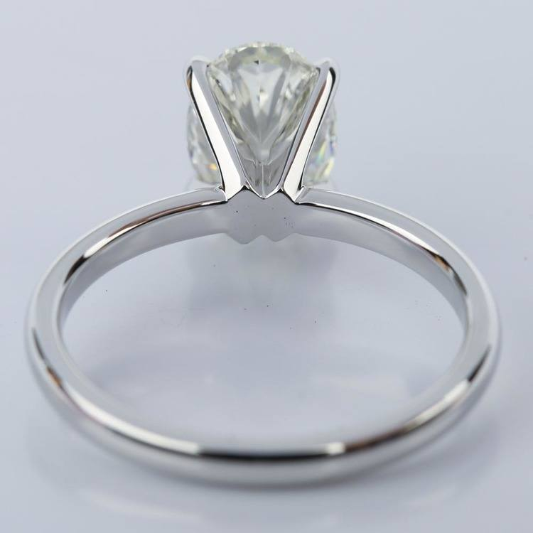 Oval 1.40 Carat Comfort-Fit Solitaire Engagement Ring angle 4