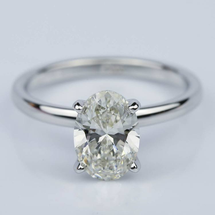 Oval 1.40 Carat Comfort-Fit Solitaire Engagement Ring