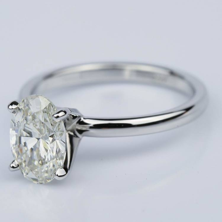 Oval 1.40 Carat Comfort-Fit Solitaire Engagement Ring angle 2
