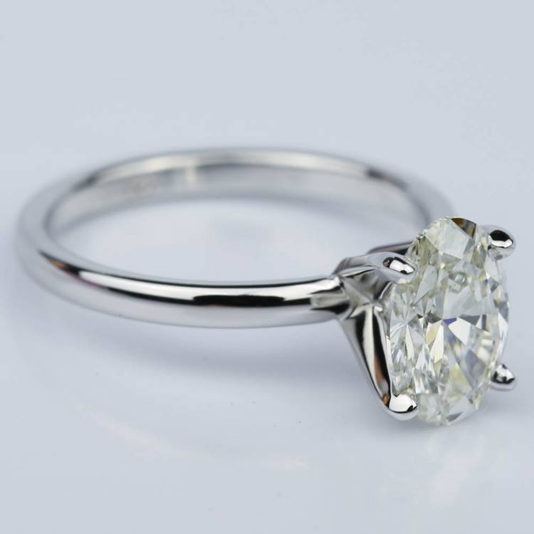 Oval 1.40 Carat Comfort-Fit Solitaire Engagement Ring angle 3