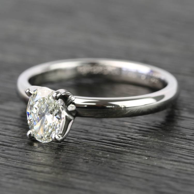 Oval Classic Solitaire Diamond Engagement Ring (0.61 Carat) angle 2