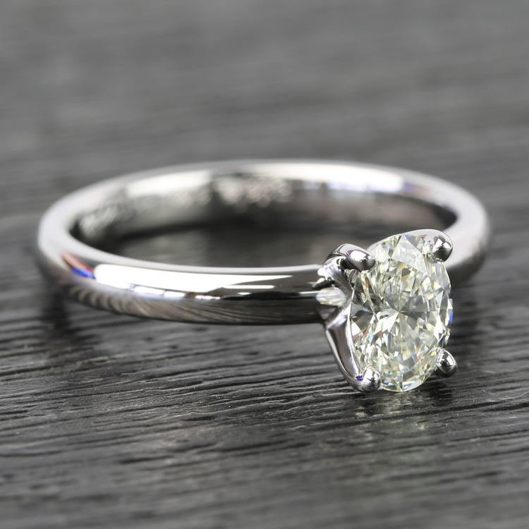 Oval Classic Solitaire Diamond Engagement Ring (0.61 Carat) angle 3
