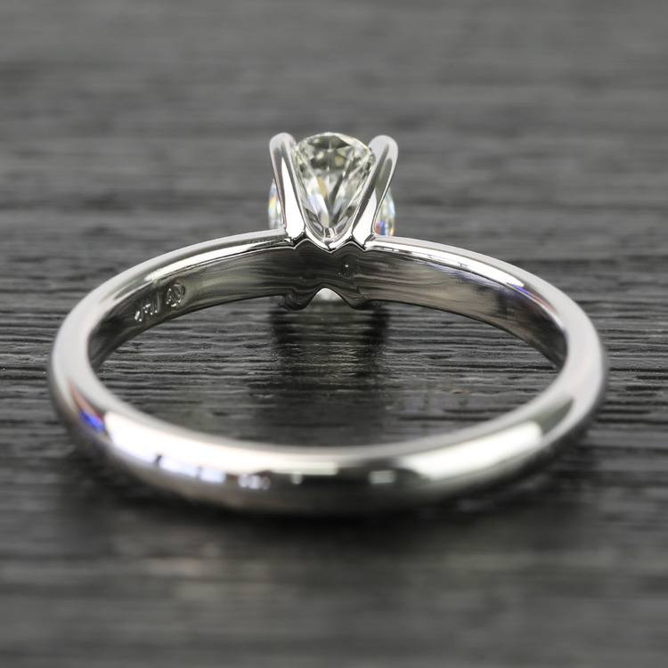 Oval Classic Solitaire Diamond Engagement Ring (0.61 Carat) angle 4