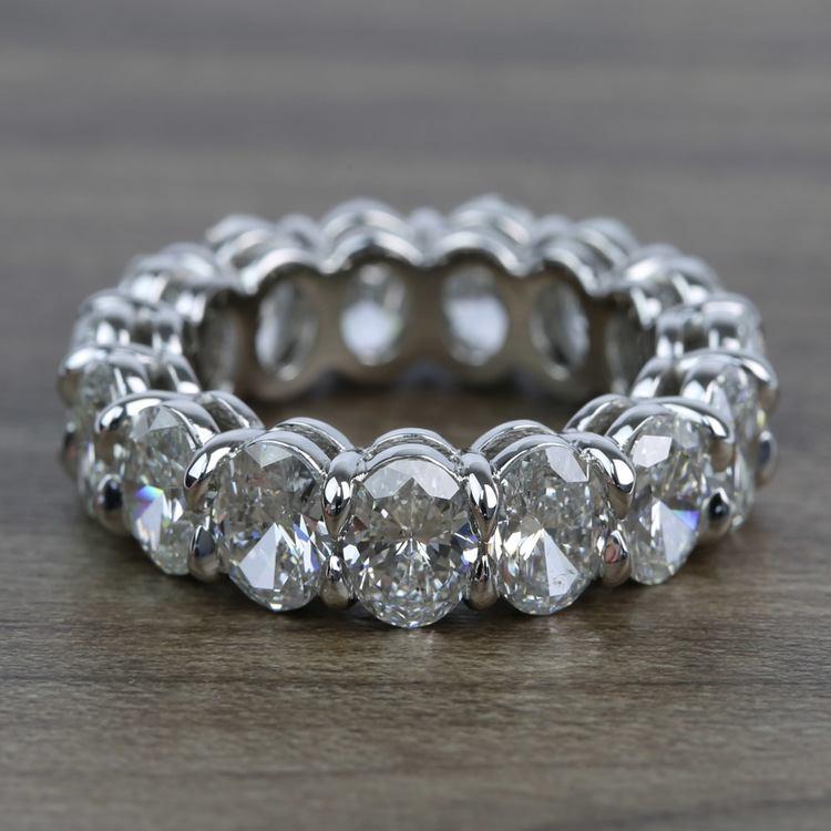 7 Carat Oval Diamond Eternity Band in Platinum