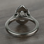 Pave 1.10 Carat Pear Halo Diamond Engagement Ring - small angle 4