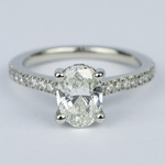 Oval Micro-Pave Engagement Ring with Diamond Gallery (1.20 ct.) - small