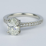 Oval Micro-Pave Engagement Ring with Diamond Gallery (1.20 ct.) - small angle 2